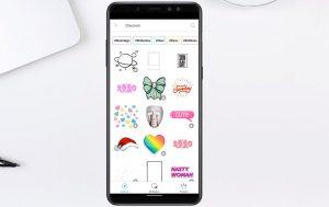 Pegatina para picsart en android