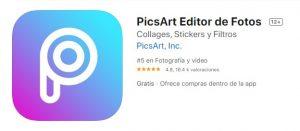 PicsArt editor para iphone
